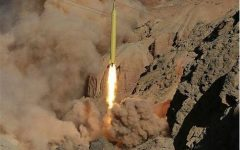 Iran fires ballistic missiles at militants from Syria