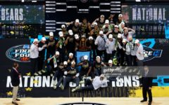 INDIANAPOLIS, INDIANA - APRIL 05: The Baylor Bears pose with the National Championship trophy after winning the National Championship game of the 2021 NCAA Men's Basketball Tournament against the Gonzaga Bulldogs at Lucas Oil Stadium on April 05, 2021 in Indianapolis, Indiana. The Baylor Bears defeated the Gonzaga Bulldogs 86-70. (Photo by Justin Casterline/Getty Images)